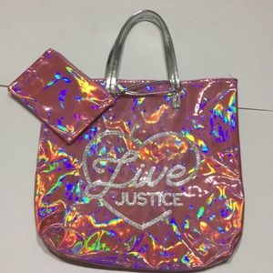 Justice bag and wristlet
